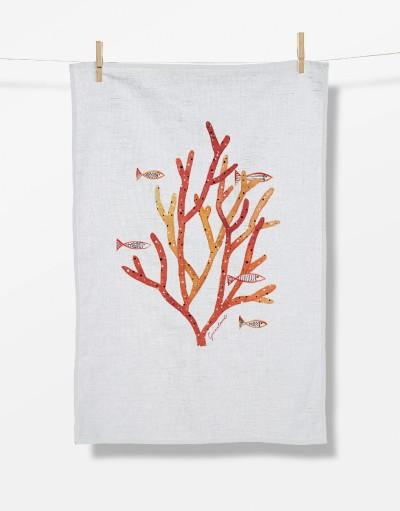 Plants Coral Life (Tea Towel)