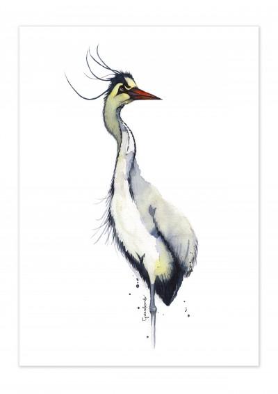 Animal Heron Poster