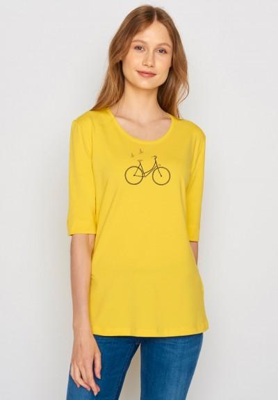 Bike Birds Deep Maize Yellow