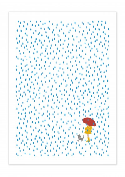 Nature Rain Child Poster