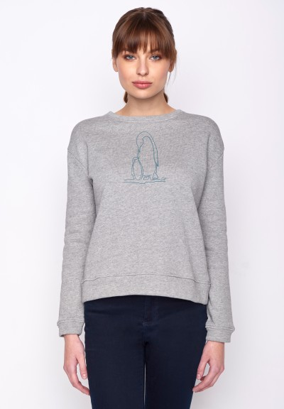 Animal Penguin Family Canty Heather Grey