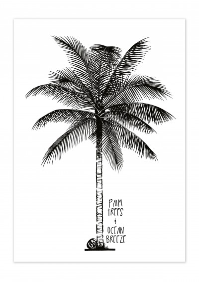 Lifestyle Palm Tree Poster