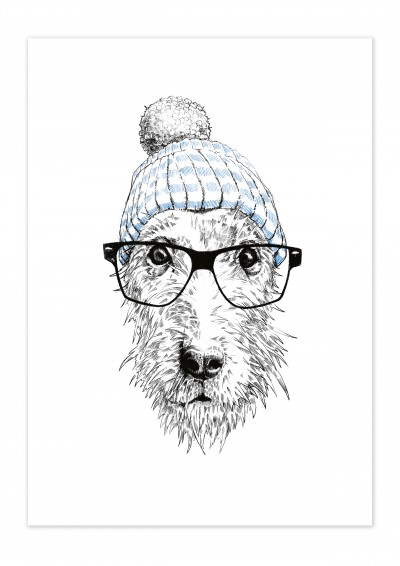 Animal Dog Glasses Poster