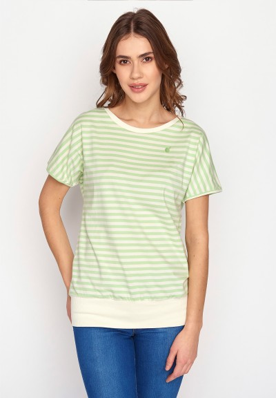 Lifestyle GB Apple Embroidery Brave Light Green Stripes