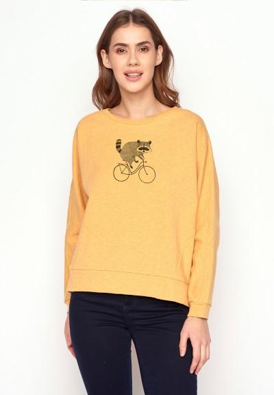 Bike Raccoon Slack Heather Yellow
