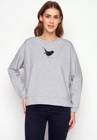 Animal Song Bird Slack Heather Grey