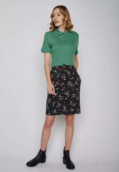Pretty Skirt Night Flowers Black