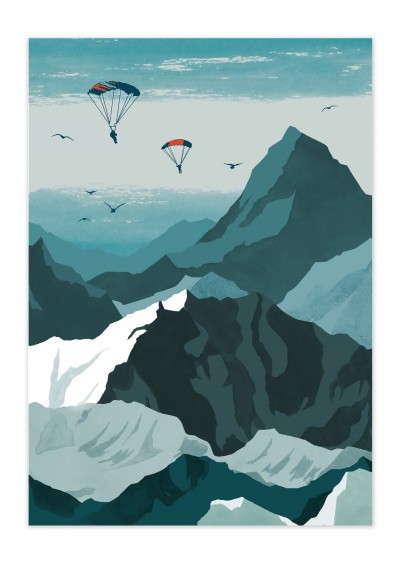 Nature Sky Diver Poster