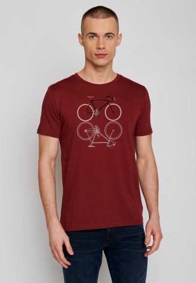 Bike Shape Guide Burgundy