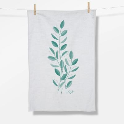 Plants Open Leaves (Tea Towel)