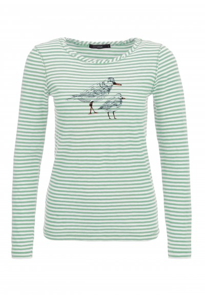 Animal Bird Friends Yummy Granite Green Stripes