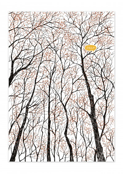 Nature Forest Peep Poster