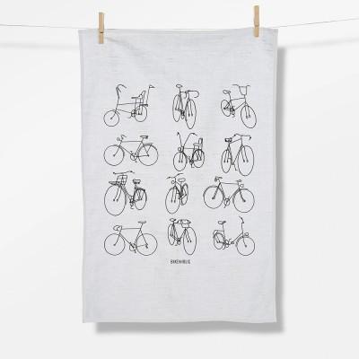 Bike Retro Bikes (Tea Towel)