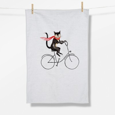 Bike Cat (Tea Towel)