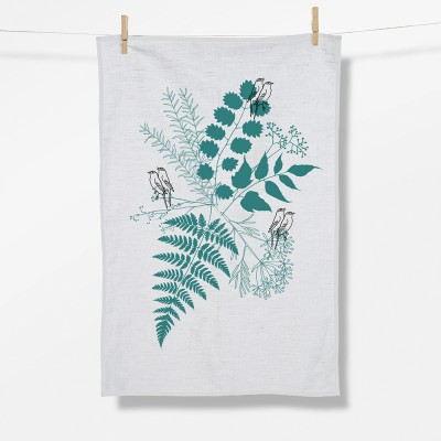 Plants Birds In Love (Tea Towel)