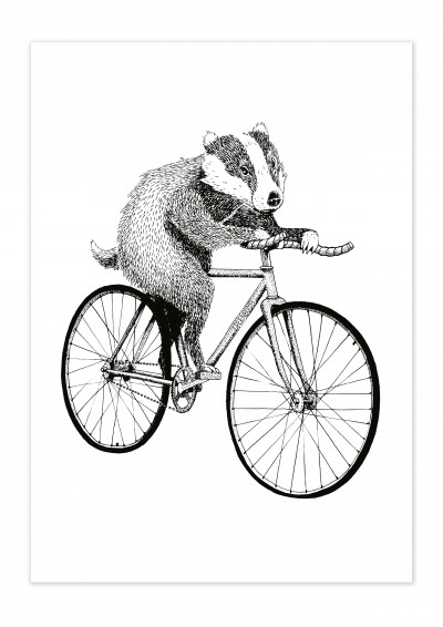 Bike Badger Poster